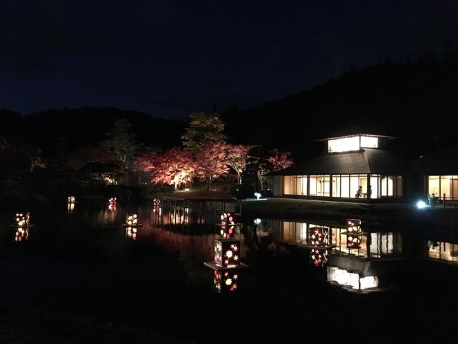 南湖公園紅葉ライトアップ(白河市)