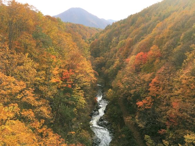 中津川渓谷の紅葉(北塩原村)