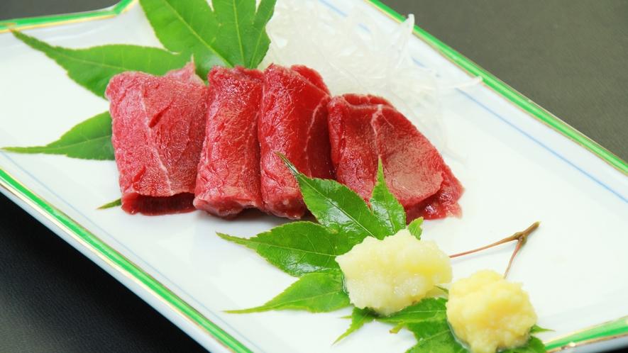 【鹿刺し】湯西川名物!新鮮な鹿刺しは絶品です。