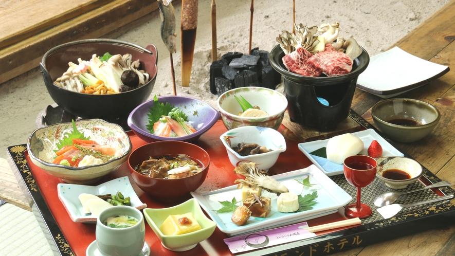 【秋のご夕食一例】秋の味覚満載★平家鷹狩料理