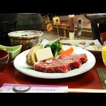 夏の疲れに…温泉と美味しい料理で体力回復♪霧降高原牛のステーキ!