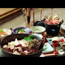 冬のあったか鍋は湯西川名物くま鍋で決まり♪写真の鍋は3~4人前になります