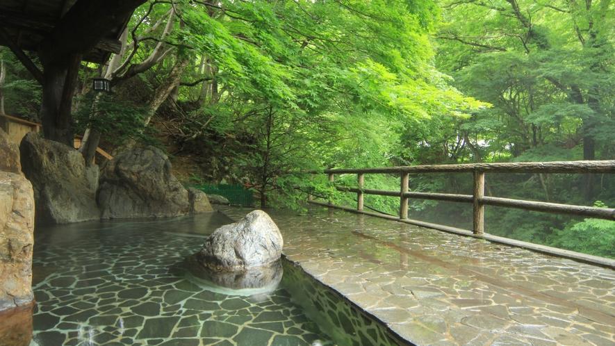 【女湯】四季の自然を満喫しながらのんびりとご入浴できます