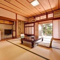 *和室二間(客室一例)/四季を彩る庭園を眺めながら心安らぐひと時をお過ごし下さい。