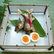 【お食事例】あゆの塩焼き