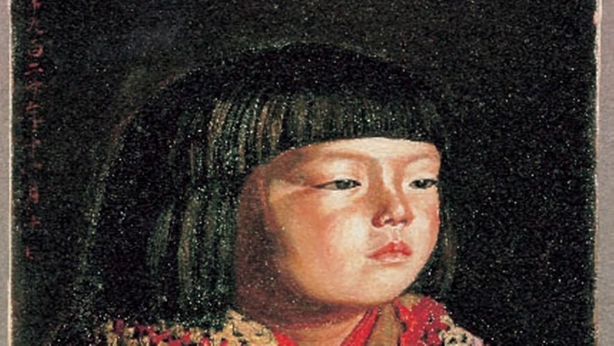 *ウッドワン美術館新館では、岸田劉生《毛糸肩掛せる麗子肖像》を展示しています。