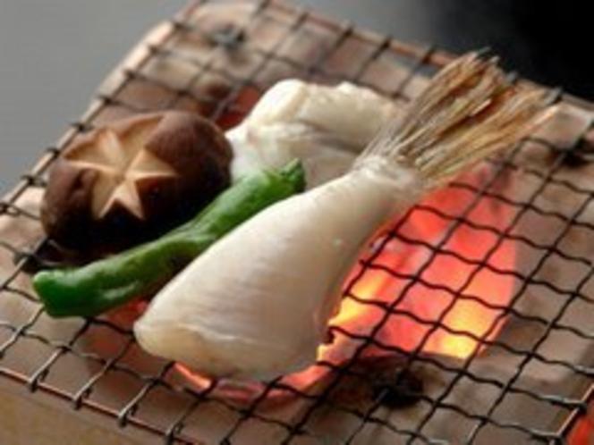 小河豚の炭火焼