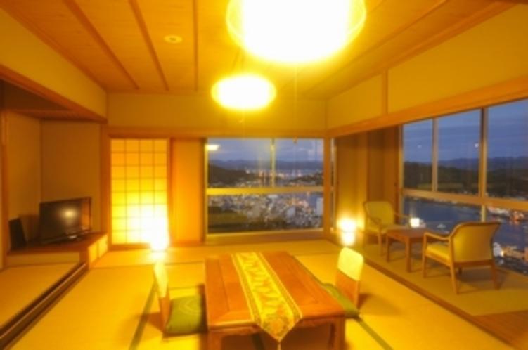 特別室18畳和室(夕景)