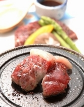 黒毛和牛の石焼ステーキ