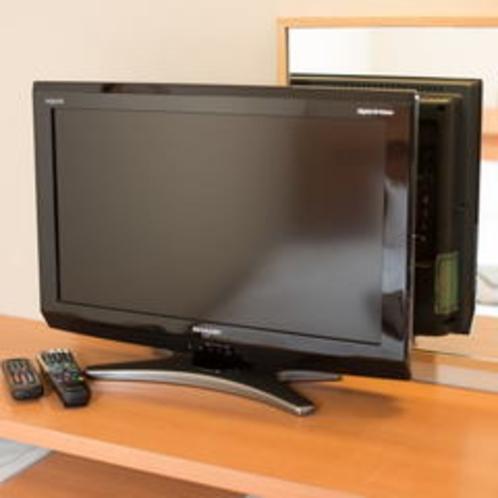 お部屋でゆっくりTV鑑賞。