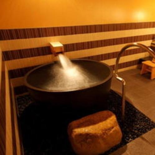 サウナのあとは、冷水で体を冷やしていただけます。