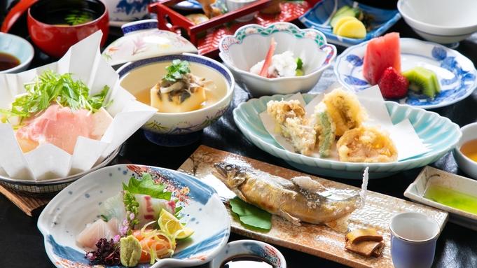 【料理長厳選】国産牛陶板焼きステーキ+旬の食材を盛り込んだ四季会席