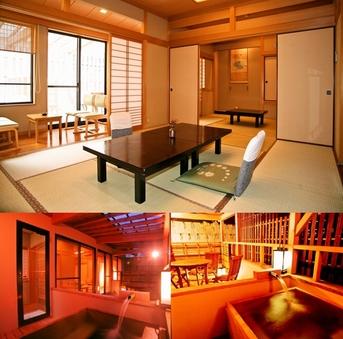 【禁煙】檜露天風呂付客室(10畳+6畳)