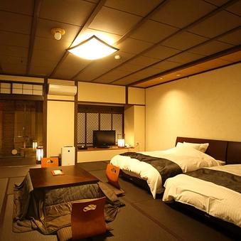 壱の棟・源泉かけ流し露天風呂付和室モダン60平米ツインベット