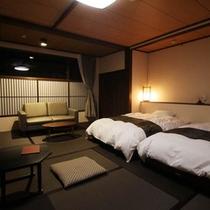 2015年3月改装 壱の棟・和室モダンルーム40平米(ツインベット)