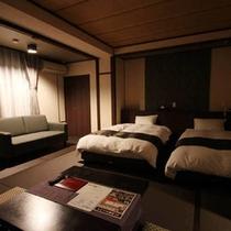 2015年3月改装 壱・弐の棟・和室モダンルーム34平米(ツインベット)