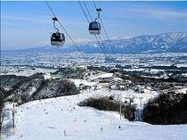 【アローザスキー場】スイスのアローザ村と姉妹提携にあり、欧州リゾートの洗練された雰囲気です。