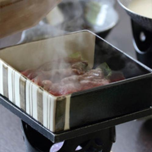 朝から牛の蒸し鍋
