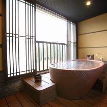 2016年12月新装 源泉かけ流し展望露天付和室モダンルーム47平米 露天風呂