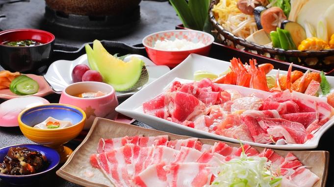 【年末年始限定】人気NO1★ 鹿児島黒豚を<鉄板焼肉&しゃぶしゃぶ>で同時に味わう【欲張り焼き鍋】