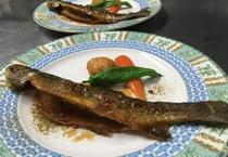 ディナーメイン 魚料理に変更可能