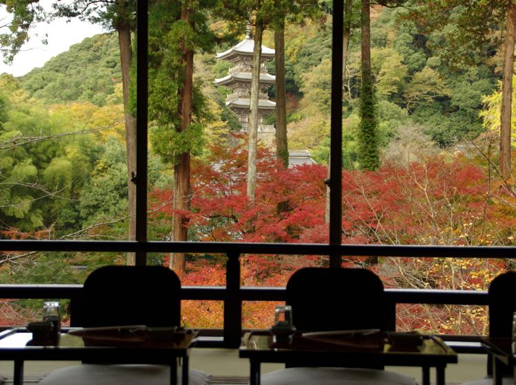 座敷からの紅葉