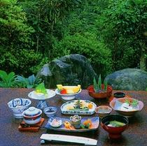 料理と景色