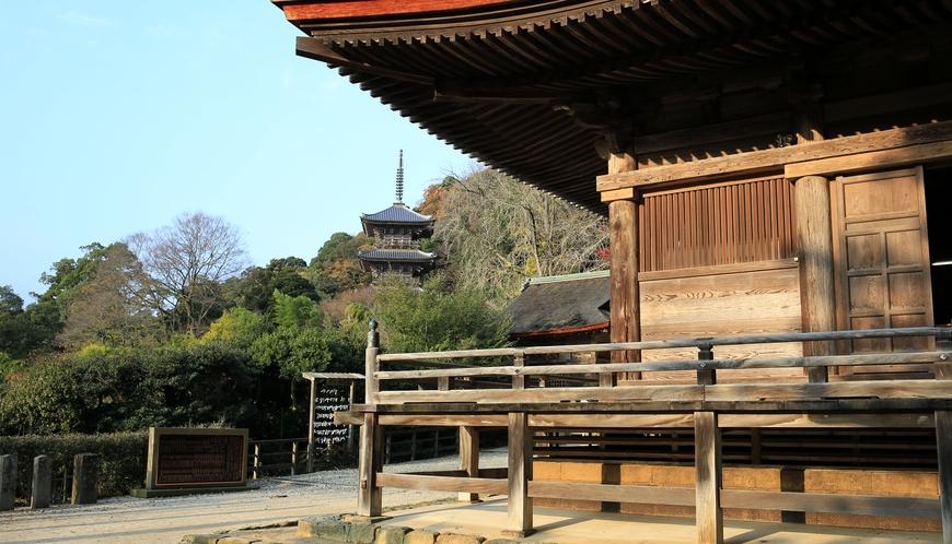 清水寺本堂と三重の塔