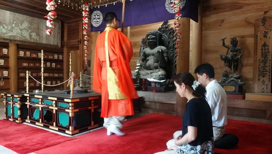 清水寺での座禅