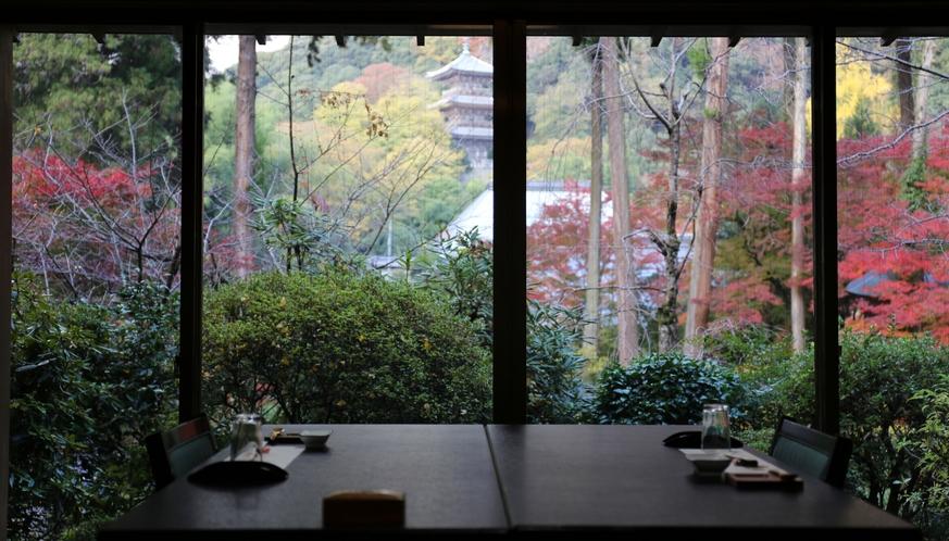 1階食事処からの眺め