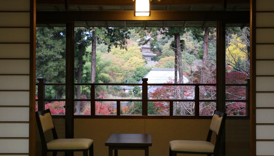 2階客室ベランダからの眺め