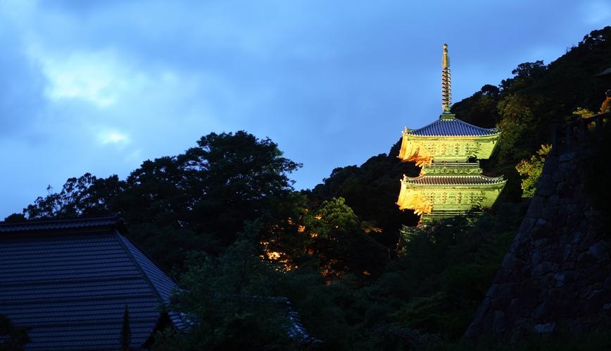 清水寺三重の塔(夜景)