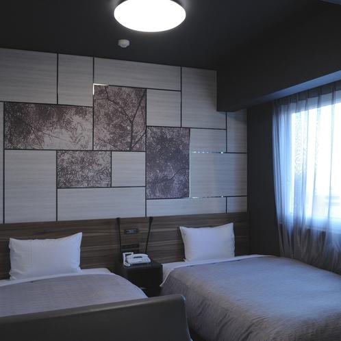 〈コンフォートツインルーム〉16平米 ベッドサイズ幅110㎝✕2台