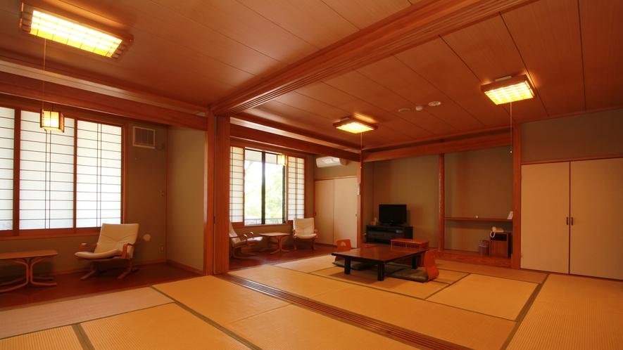 ■12畳二間【すみれ-sumire-】 1階にある客室なので年配の方同伴の利用に人気の客室
