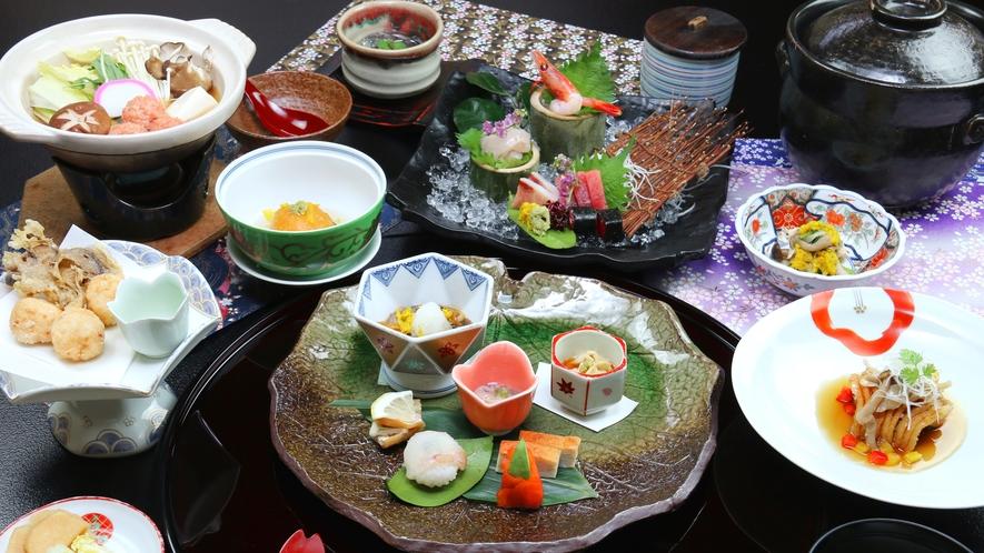 ■冬-笹倉 身体あたたまる鍋とともに趣向を凝らした逸品ぞろいの最上級コースをご堪能あれ!