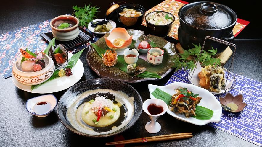 ■秋-笹倉 最上級コースで贅沢に。松茸ごはんやいもっこ汁、豚の角煮など食欲の秋にぴったりの逸品ぞろい