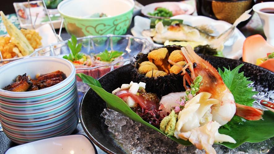 ■夏-笹倉 鮎はもちろんウニに鰻飯に和牛冷しゃぶと豪華食材の饗宴♪