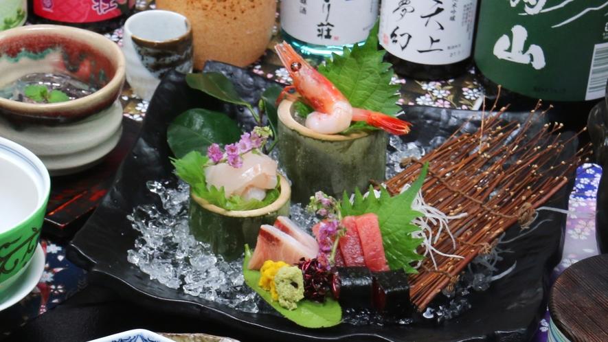 ■冬-笹倉 お酒が進む旬魚のお造りは最上級コースでさらに贅沢に