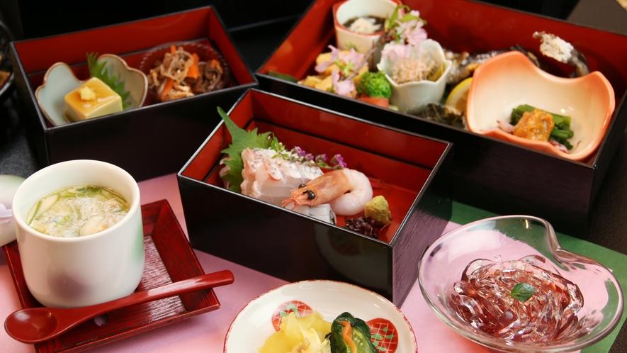 ■日帰り-なな味膳 ご宿泊のお料理では味わえない、一味違ったお料理を。※春の一例です