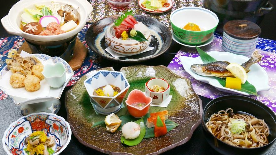 ■日帰り-神楽膳-冬 人気No1!ちどり荘のこだわり創作懐石が楽しめる定番ランチコース