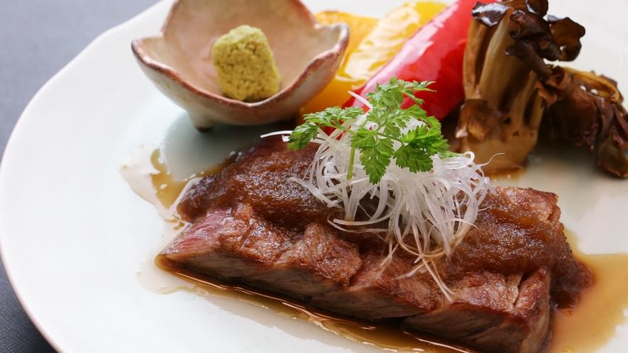 ■期間限定-雅~冬旅ver~ 仙台牛を贅沢にステーキで。ご当地食材の贅を追求!