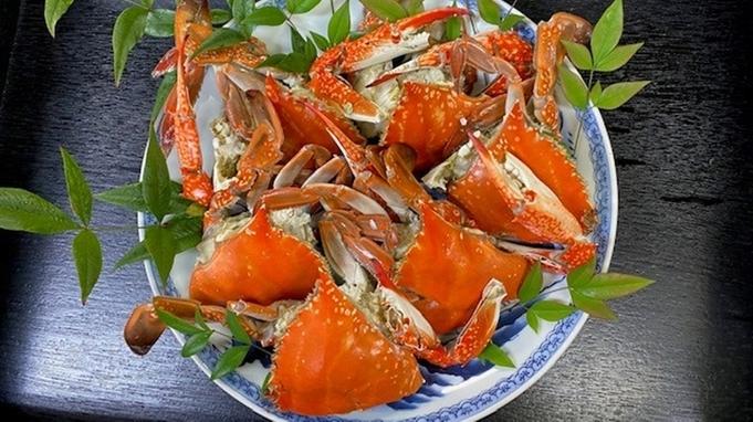 ≪高級食材!ワタリガニ付き≫凝縮された旨みが堪らない【蒸し蟹】でご提供 ※現金特価