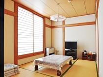 【本館 和洋室の一例】畳の香りに癒されます。
