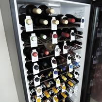 *【ワインセラー】約50種類の豊富な品揃え。宮古で一番の品揃えとなっております。
