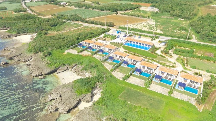 *【外観/全景】全敷地8.300平方メートルという広大な楽園『紺碧』は8棟だけの至極ヴィラリゾート