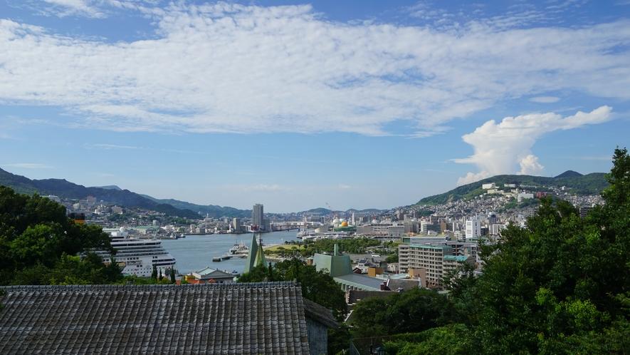 高台から長崎港を一望!