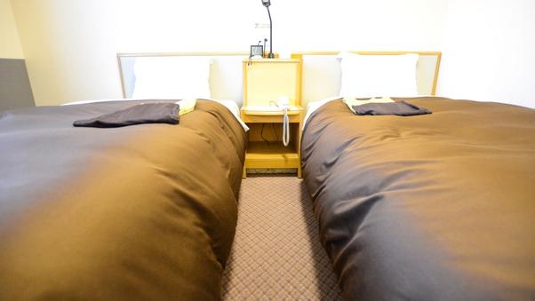 【喫煙】ツイン★シングルベッド2台★WIFI完備★個別空調
