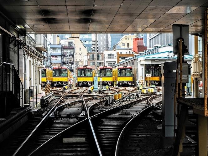 ■東京地下鉄上野駅検車区