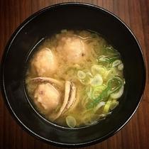 (夕食)イカの味噌汁