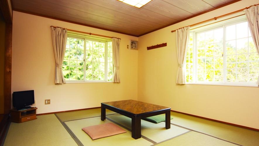 当館唯一の畳のお部屋!4~5名までのお客様をお受けできます!≪和室10畳≫